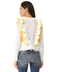Wildfox White Sorbet Stripe Sweater