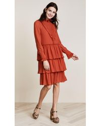 See By Chloé - Red Ruffle Bottom Dress - Lyst