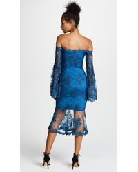 Nicholas Blue Octavia Lace Midi Dress