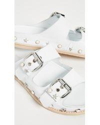Stuart Weitzman White Sandbar Sandals