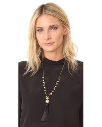 Gorjana | Metallic Leucadia Beaded Tassel Necklace | Lyst