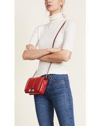 Rebecca Minkoff Red Chevron Small Quilted Love Cross Body Bag