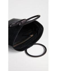 Carolina Santo Domingo Black Mini Petra Leather Tote