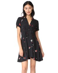 Free People - Black Dream Girl Mini Dress - Lyst