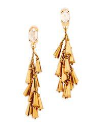 Oscar de la Renta - Metallic Multi Cone Clip On Earrings - Lyst