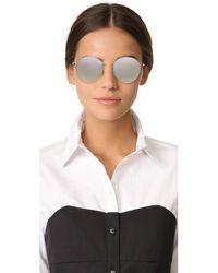 Vedi Vero - Metallic Round Sunglasses - Lyst