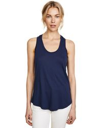 Splendid - Blue Very Light Jersey Tank - Lyst