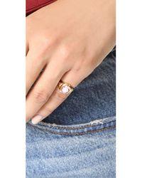 Jacquie Aiche - Metallic Ja Small Rose Ring - Lyst