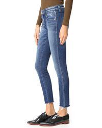AMO - Blue Stix Crop Skinny Jeans - Lyst