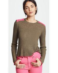 Rag & Bone - Green Rowan Crew Sweater - Lyst