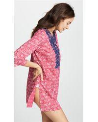 Roberta Roller Rabbit Pink Urchin Dye Inez Kurta Cover Up