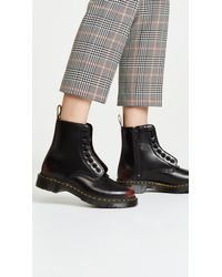 Dr. Martens Black 1460 Pascal Front Zip 8 Eye Boots