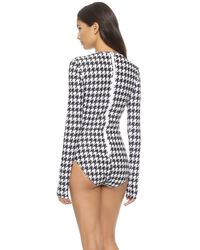 Cover Blue Long Sleeve Swimsuit