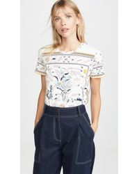 Tory Burch Multicolor Printed T-shirt