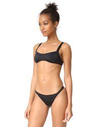 Solid & Striped Black The Molly Bikini Top
