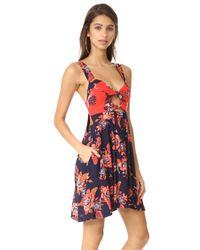 Free People - Red Baby It's You Mini Dress - Lyst