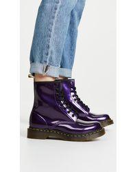 dr martens purple vegan boots