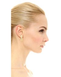 Soave Oro - Metallic Shiny Braided Hoop Earrings - Lyst