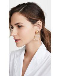 Oscar de la Renta Multicolor Cameo Earrings