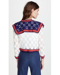 Michaela Buerger Multicolor Crochet Tie Front Cardigan