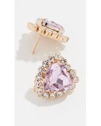 Anton Heunis Pink Heart Stud Earrings
