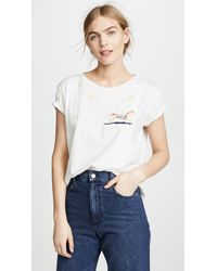 Mother - White The Boxy Goodie Goodie Tee - Lyst