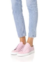South Parade - Pink Stars Leather Lace Up Sneakers - Lyst
