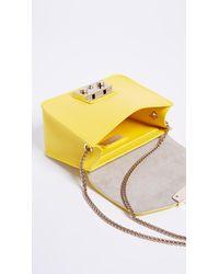 Furla Yellow Metropolis Mini Cross Body Bag