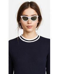 Le Specs White Enchantress Sunglasses