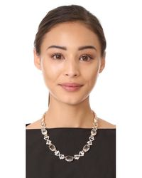 Kate Spade - Metallic Crystal Cascade Necklace - Lyst