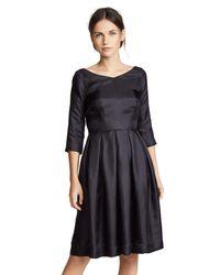 La Prestic Ouiston Black Bourgeouise 3/4 Sleeve Dress