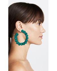 Mercedes Salazar - Green Woven Crescent Earrings - Lyst