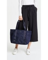 Tory Burch - Blue Quinn Large Zip Tote - Lyst