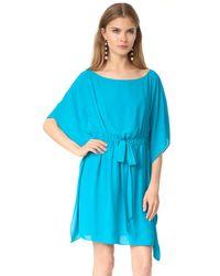 Alice + Olivia - Blue Zella Short Caftan Dress - Lyst