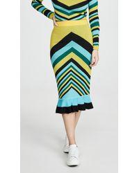 Victor Glemaud Blue Geometric Skirt