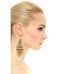 Shashi | Black Heather Earrings | Lyst