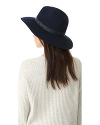 Rag & Bone Blue Wide Brim Fedora