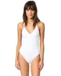 Norma Kamali | White Slip Mio Swimsuit | Lyst