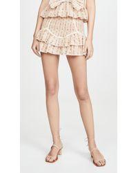 LoveShackFancy Multicolor Raina Skirt