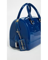 Furla Blue Candy Cookie Small Satchel