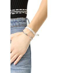 Venessa Arizaga - White Taken Bracelet - Lyst