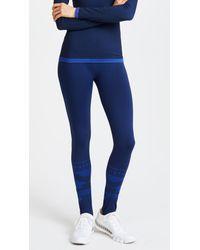 Tory Sport Blue Seamless Ski Leggings