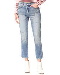 AMO - Blue Tomboy Crop Jeans - Lyst