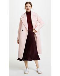 Club Monaco Pink Daylina Coat