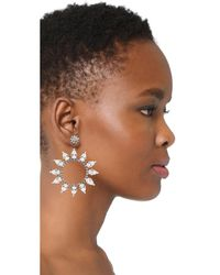 Kenneth Jay Lane - Multicolor Open Circle With Crystal Accents Earring - Lyst