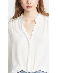 L'Agence White Bianca Blouse