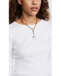 Rebecca Minkoff - Metallic Signature Chain Stone Medallion Necklace - Lyst