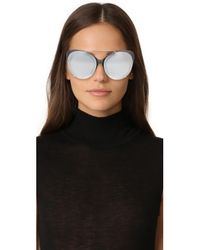 3.1 Phillip Lim - Metallic Cat Aviator Mirrored Sunglasses - Lyst