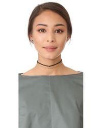Gorjana | Black Fairfax Gemstone Choker Necklace | Lyst