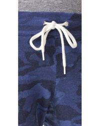 Monrow Blue Camo Vintage Sweatpants